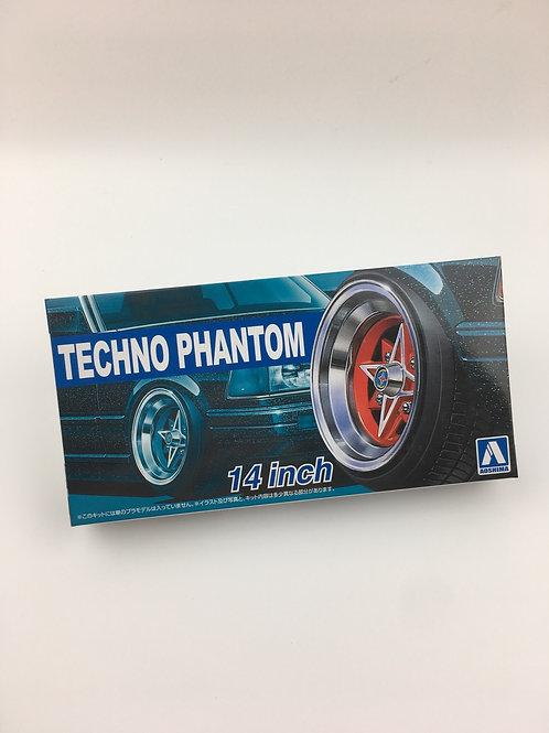 "1/24 14""Techno Phantom Wheels and tyres"