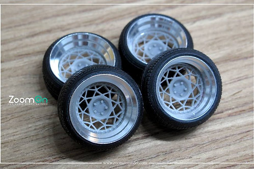 "1/24 16"" Rotiform DSC Rim with tyres Set"