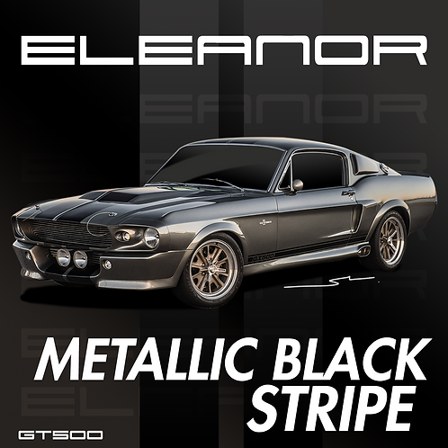 Eleanor Metallic Black Stripe