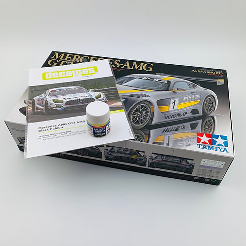 Combo:Tamiya AMG GT3+Team Black Falcon 2016+White Lacquer Paint