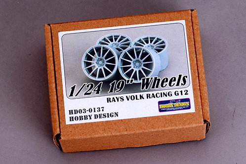 "1/24 19""Rays Volk Racing G12 Wheels"