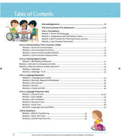 Table of Contents Communicators Curricul