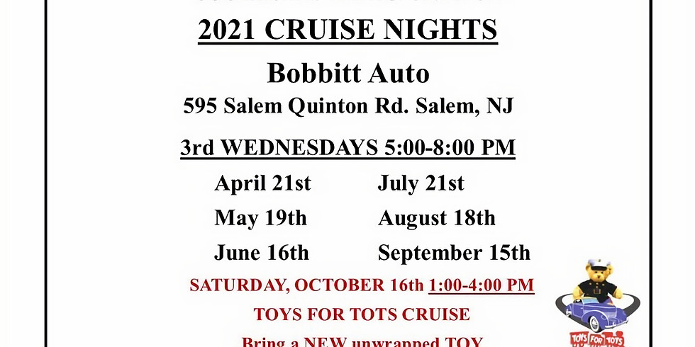 21 in '21 South Jersey Regional AACA Bobbit Cruise Nights