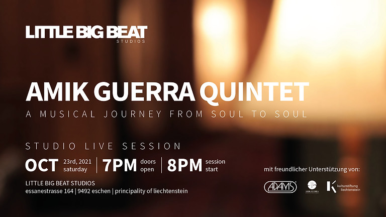 AMIK GUERRA QUINTET - STUDIO LIVE SESSION