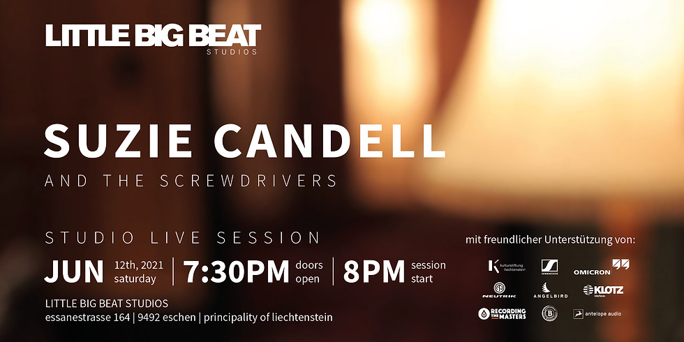 SUZIE CANDELL AND THE SCREWDRIVERS - STUDIO LIVE SESSION