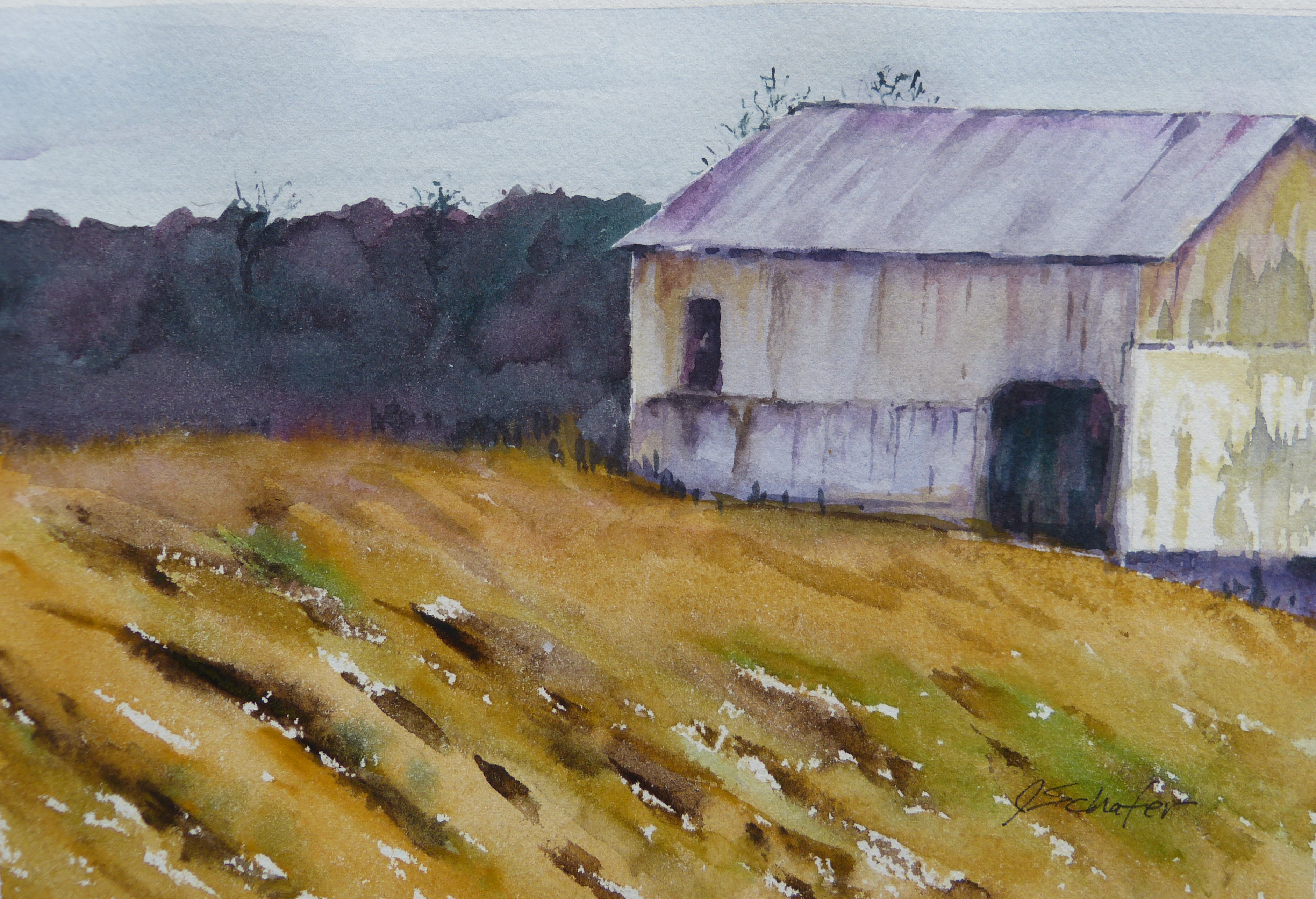 """Barn After the Harvest"""