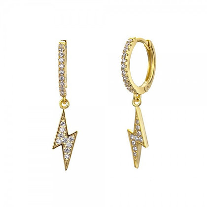 LIGHTNING GOLD EARRINGS