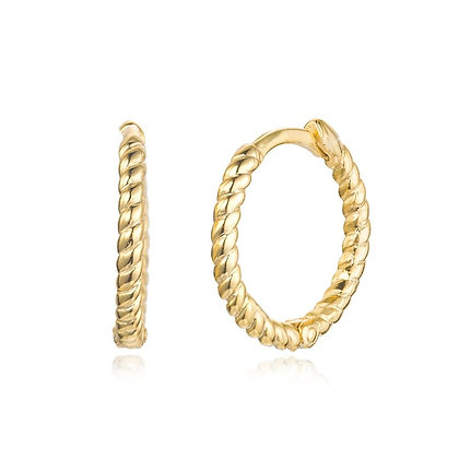 ROPE GOLD HOOPS