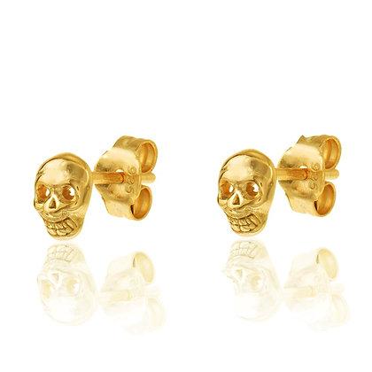 SKULL GOLD EARRINGS