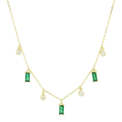 GREEN ELEMENT GOLD NECKLACE