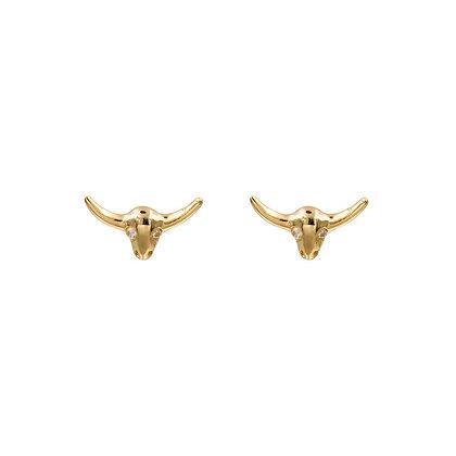 BULL GOLD EARRINGS