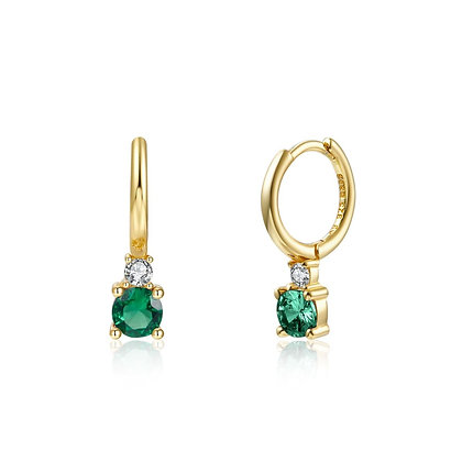 COSMOS GREEN GOLD EARRINGS