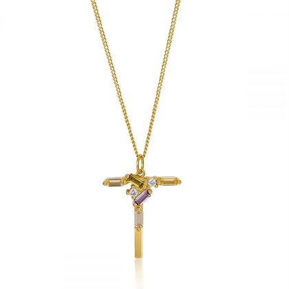 T LETTER GOLD NECKLACE