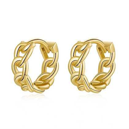 CHAINS GOLD EARRINGS