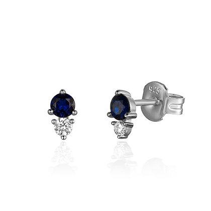 INFINITY BLUE SILVER EARRINGS