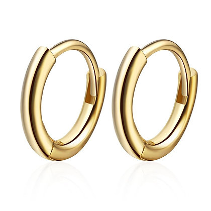 HOOPS 1.2 CM GOLD EARRINGS