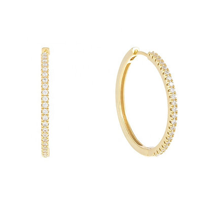 CAMELIA LARGE GOLD HOOPS