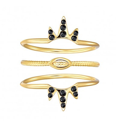 TRIPLE TRIBE GOLD RING