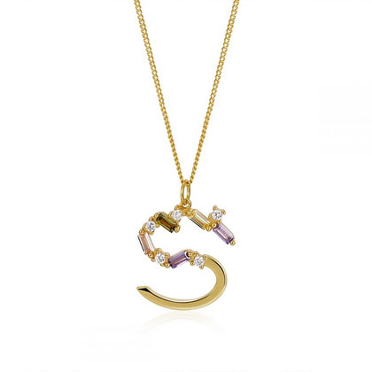 S LETTER GOLD NECKLACE