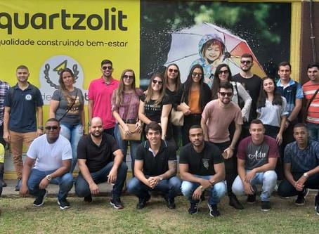 Alunos de Engenharia Civil e Administração visitam Weber-Quartzolit