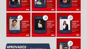 ALUNOS DE DIREITO DA FASAP SÃO APROVADOS NO XXXII EXAME DE ORDEM UNIFICADO