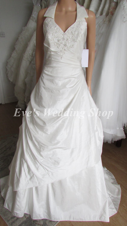 IVORY HALTERNECK WEDDING/BRIDAL DRESS SIZE 14