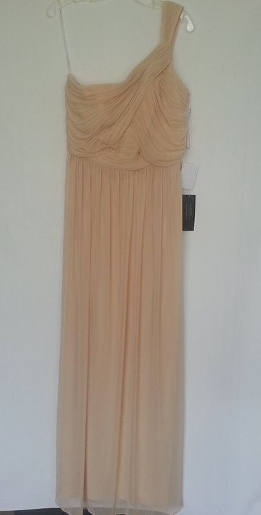 Alfred Sung style D691 golden evening / bridesmaid dress UK 12