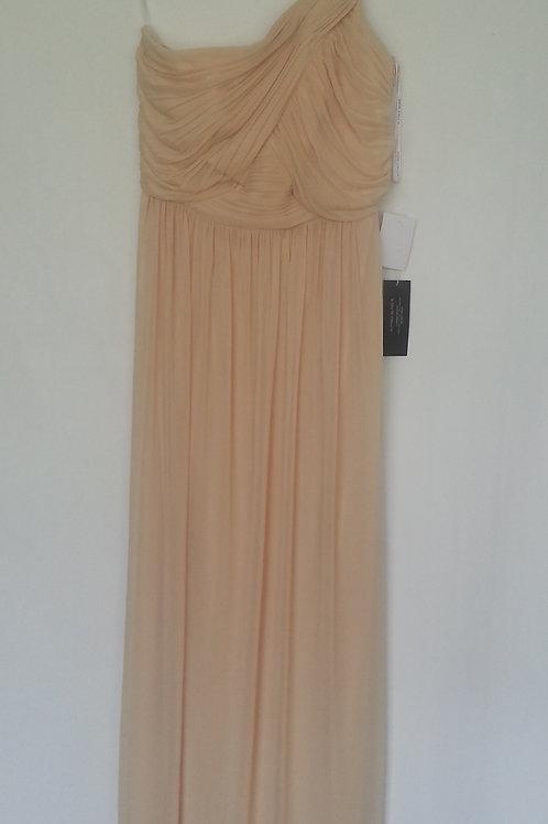 Alfred Sung style D691 golden evening / bridesmaid dress UK 12