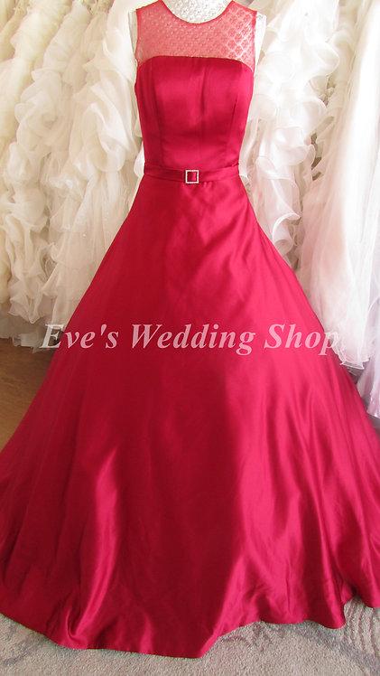 Victoria Kay wine color mesh/satin wedding dress UK size 10