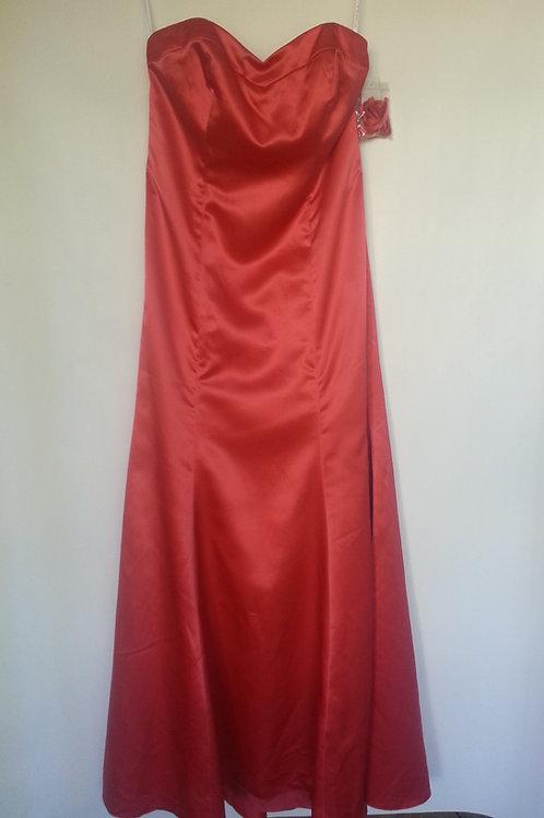 Dessy 6701 firecracker color evening / bridesmaid dress UK 10
