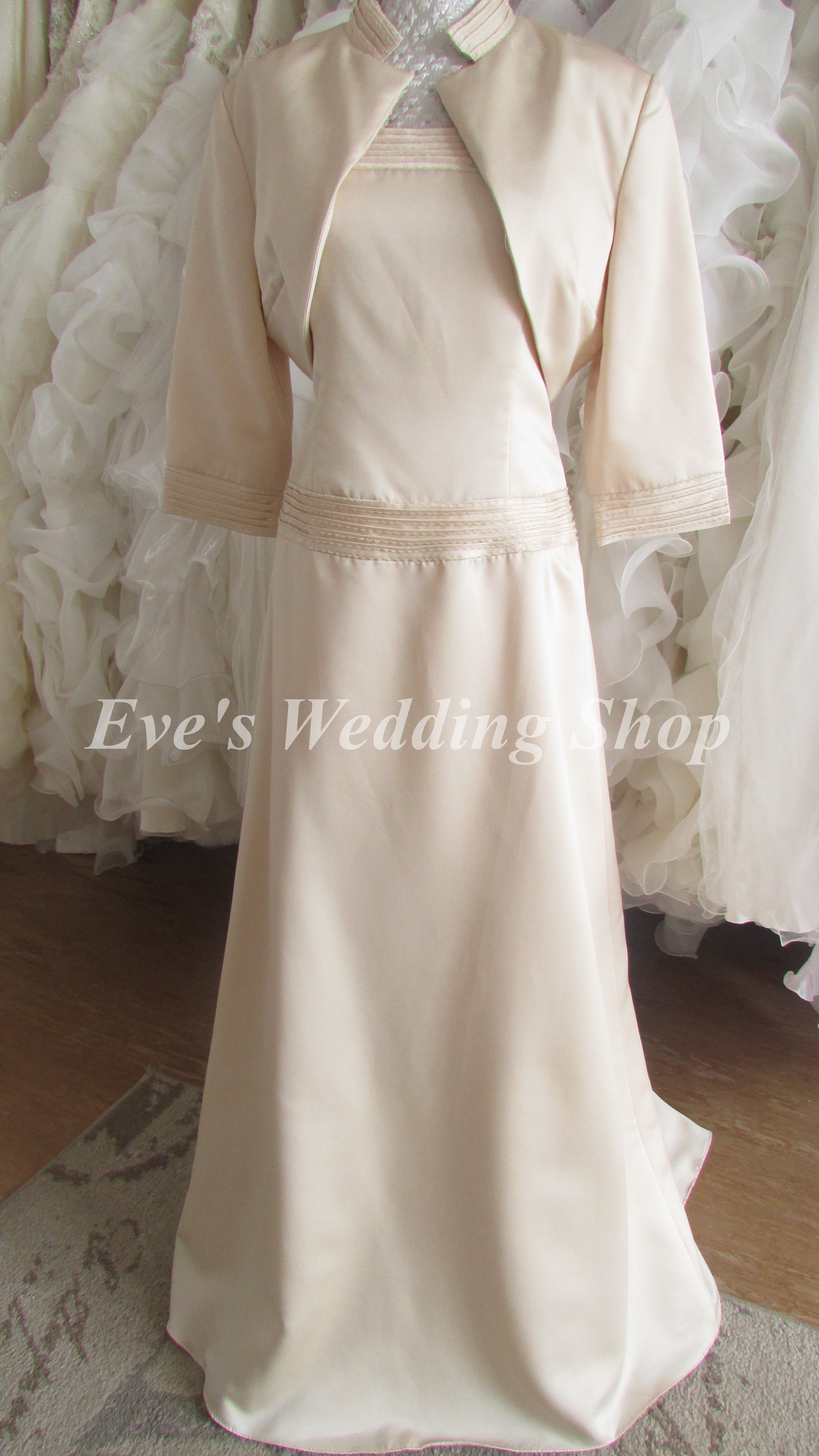 Rose Bridal Cream Gold Wedding Dress With Bolero Uk 14 16