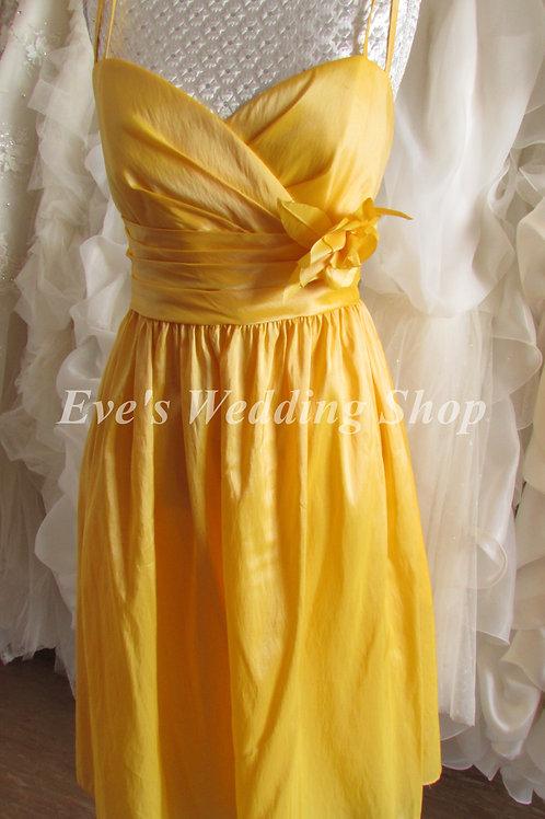 WTOO yellow short bridesmaid / evening prom dress uk 10