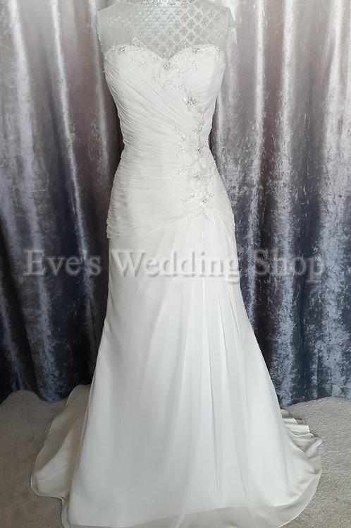 Alexia designs chiffon destination wedding dress UK 12/14