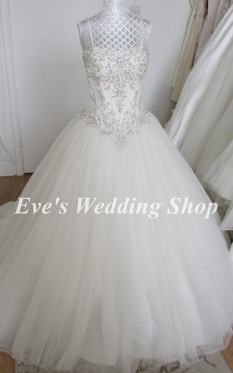 Kitty Chen Regina Ivoire collection wedding dress UK 8/10