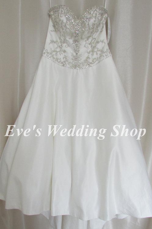 Alfred Angelo petite  wedding dress ''Jasmine'' with hidden pockets UK 14/16