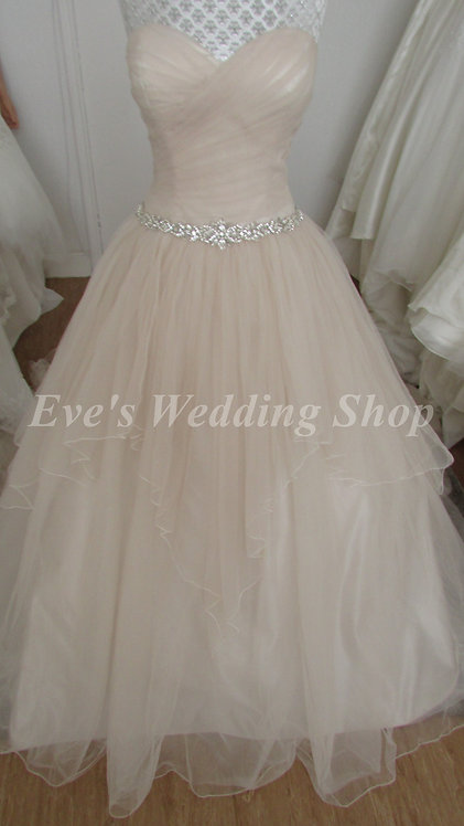 Chloe Jai truffle wedding dress UK 8