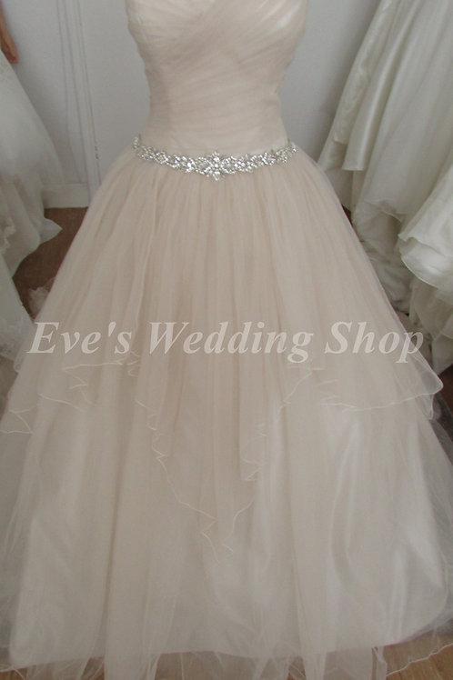 Chloe Jai truffle wedding dress UK 8