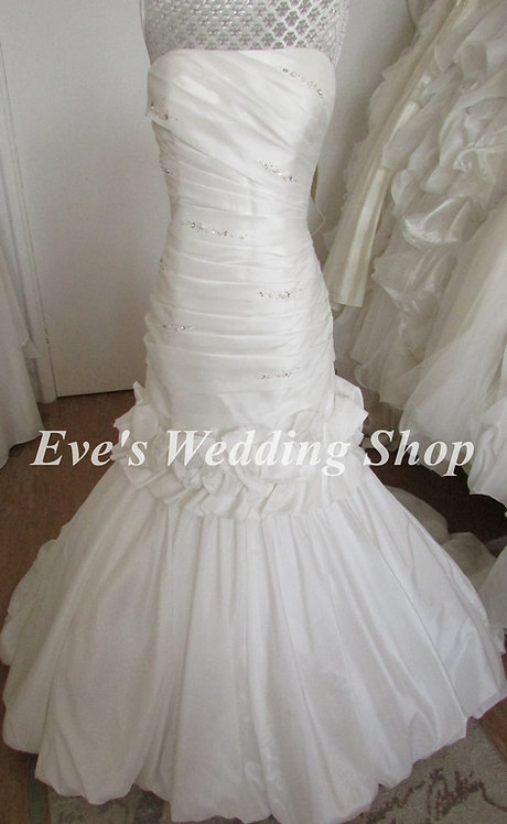 2 in 1 wedding dress - Eternity bride wedding dress with detachable skirt UK 14