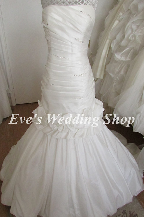 2 in 1 wedding dress - Eternity bride wedding dress with detachable skirt UK 14