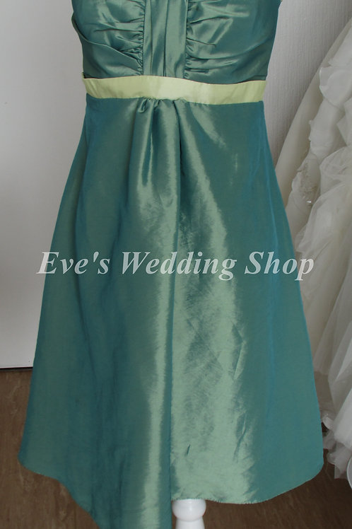 FOREVER YOURS GREEN BRIDESMAID DRESS UK 12/14