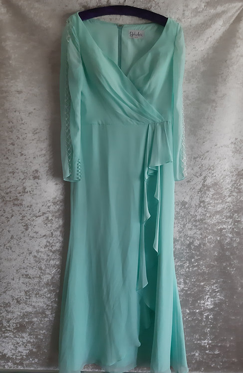 Berketex Aqua chiffon prom / evening dress UK 16