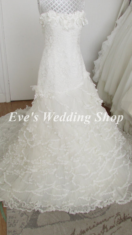 Pronovias ivory wedding dress UK 10/12