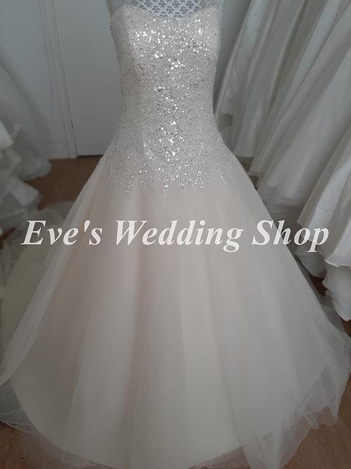 Aspire beige wedding dress UK 14/16