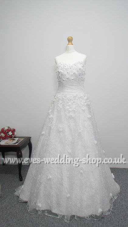 Amanda Wyatt ivory wedding dress  UK 10/12