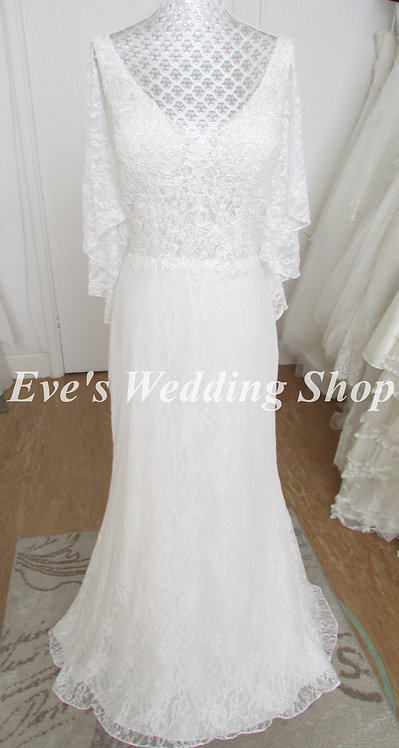 Ivory lace wedding dress UK 16/18