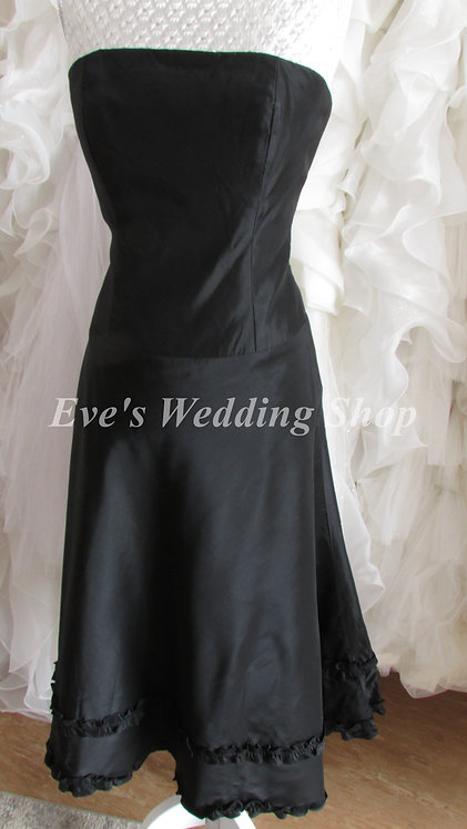Black short bridesmaid dress UK 12