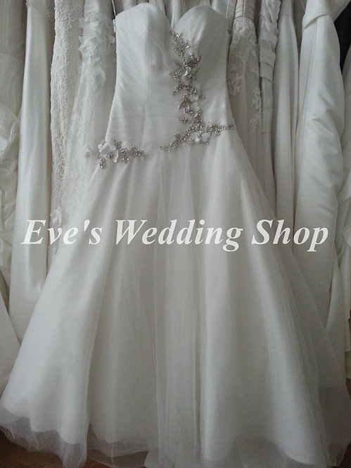 Alfred Sung Ivory wedding dress UK 8