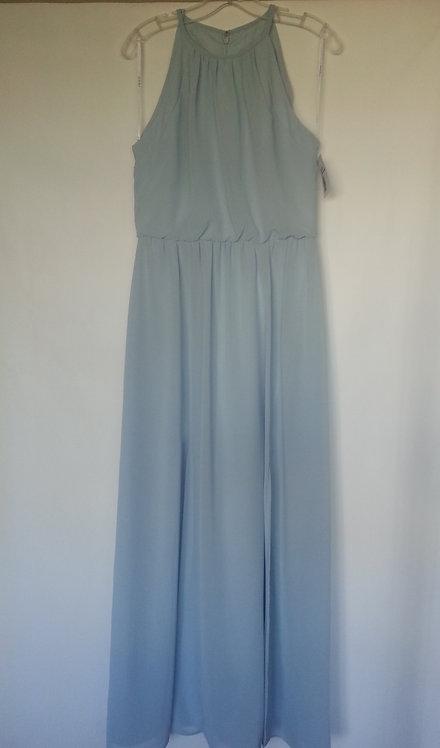 Dessy - social bridesmaids 8179 mist color evening / bridesmaid dress UK 10