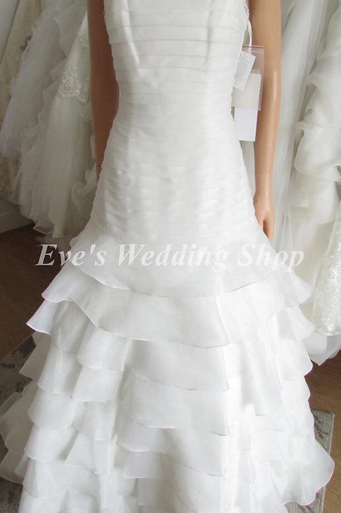 ALYCE DESIGN LAYERED IVORY WEDDING/PROM DRESS 16