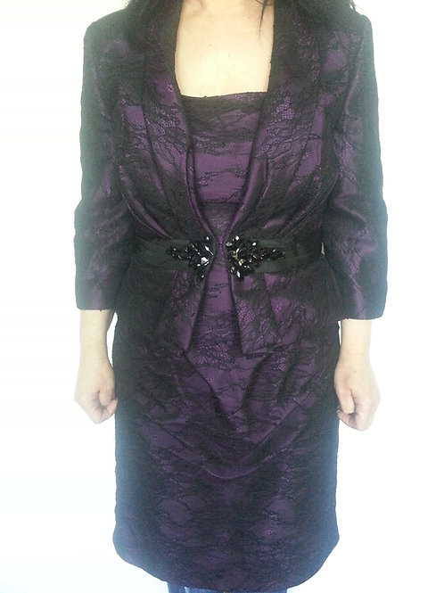 Alexia Mother of bride dress/bridesmaid dress with jacket uk 14